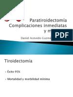 paratiroidectomacomplicaciones