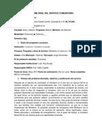 Informe Del Servicio Comunitario