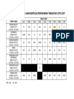 Jadual Pengawasan Ujian Bertulis Pentaksiran Tingkatan 3