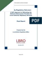 Priority Regulatory Outcomes