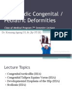 09. C. Orthopedic Congenital Pediatric Deformities