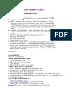 Canon Waste Ink Tank Reset Procedures