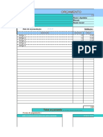Orçamento Para Excel
