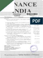 Finance India 31 (2) June, 2017