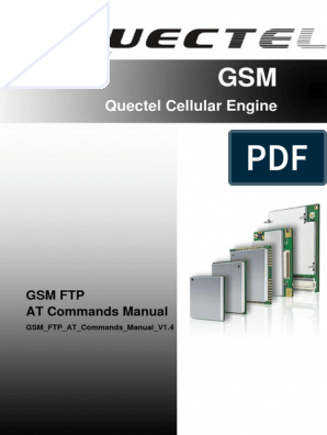 Quectel GSM FTP at Commands Manual V1 4 | File Transfer Protocol