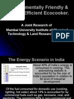 Environmentally Friendly & Energy Efficient Ecocooker