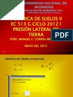 96129120 EC 513 G Presion Lateral de Suelo.ppt Uni