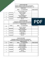 Cronograma Recuperaciones 2017 Semana de Reseso