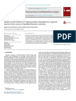 Studies on the Kinetics of Carbamazepine Degradation