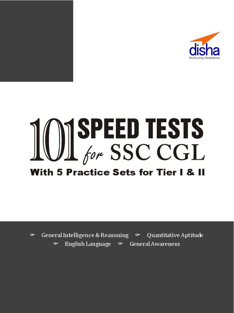 SSC Combined Graduate Level (Tier I & Tier II) Exam 101 Speed Tests With 5  Practice Sets 2nd Edition | Test (Assessment) | Ratio