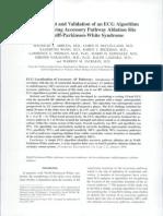 JCE 1998-9!2!12 Development and Validation of an ECG Algorithm WPW