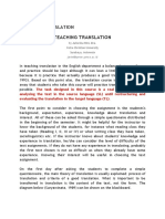 (Jurnal) Teaching Translation