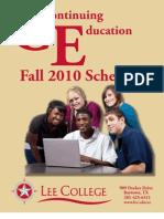 Fall 2010 CE Schedule