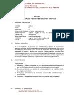 4.5. Analisis y Diseño de Circuitos Digitales