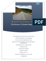 Memoria Técnica de Proyecto de Carretera del Curso de Transporte I