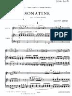Arrieu Sonatine Piano