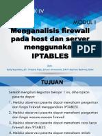 Kel IV - Modul I KP 1 Menganalisis Firewall Pada Host Dan Server Menggunakan IP Table