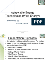 Renewable Energy Technologies Wind Energy