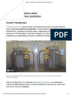 Special Considerations When Selecting Transformer Protection