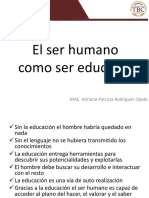 El Ser Humano Como Ser Educable
