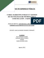Trabajo de Gobierno Electronico El Salvador
