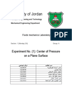 Fluid EXP 1 Centre of Pressure