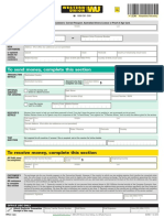 Western Union Money Transfer Form