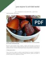 10 Alimentos Para Mejorar La Actividad Mental e Intelectual