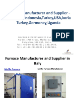 Silcarb-Furnace Manufacturer and Supplier in Italy