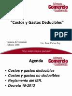 Costos y Gastos Deducibles ISR Presentación