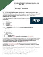 Código de Organização e Divisão Judiciária Do Paraná