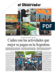 Ranking de salarios - Cuáles son las actividades que mejor se pagan en la Argentina