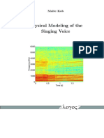 Physical Modelling of the Singing Voice