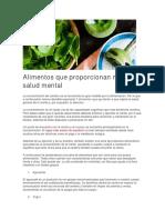 Alimentos Que Proporcionan Mejor Salud Mental
