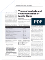 Thermal Analysis and Characterization of Textile Fibres
