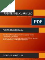 Fuentes Del Currículo