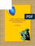 Crimes Against Property Basic Investigative Concepts