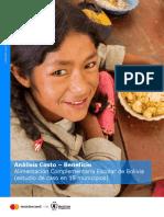 Analisis Costo Beneficio Bolivia