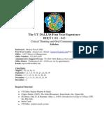 UT Dallas Syllabus for rhet1101.043.10f taught by Monica Powell (msp073000)