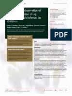 Jurnal Prospective Observational adverse drug reaction to diclofenac in children