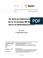 Tecnología de HD Radio™- Un Guía de Implementación para Radiodifusores FM - TX_MAN_3270 - Revision 02.01