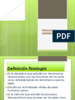 FISIOLOGIA GENERALIDADES