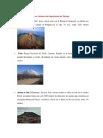 Los Volcanes Más Importantes en Europa