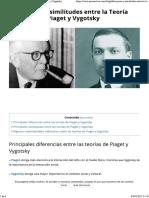 Diferencias y Similitudes Entre La Teoría de Piaget y Vygotsky