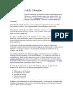 Características de La Filtración