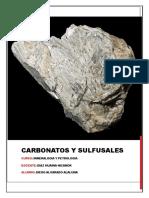 Carbonatos y Sulfusales CURSO