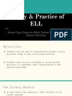 theory and practice of ell