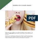 4 Versiones Saludables de Tu Comida Chatarra Favorita