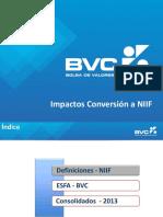 Impactos Implementación NIIF BVC