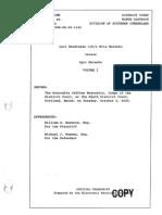 Spurwink PFA Hearing Transcript Volume I